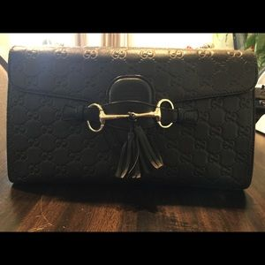 Authentic Emily Guccissima Chain Shoulder Bag